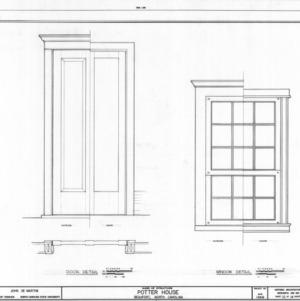 Door and window details, Josiah Bell House, Beaufort, North Carolina