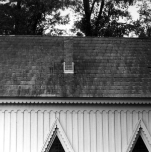 Roof and chimney, Grace Episcopal Church, Trenton, Jones County, North Carolina