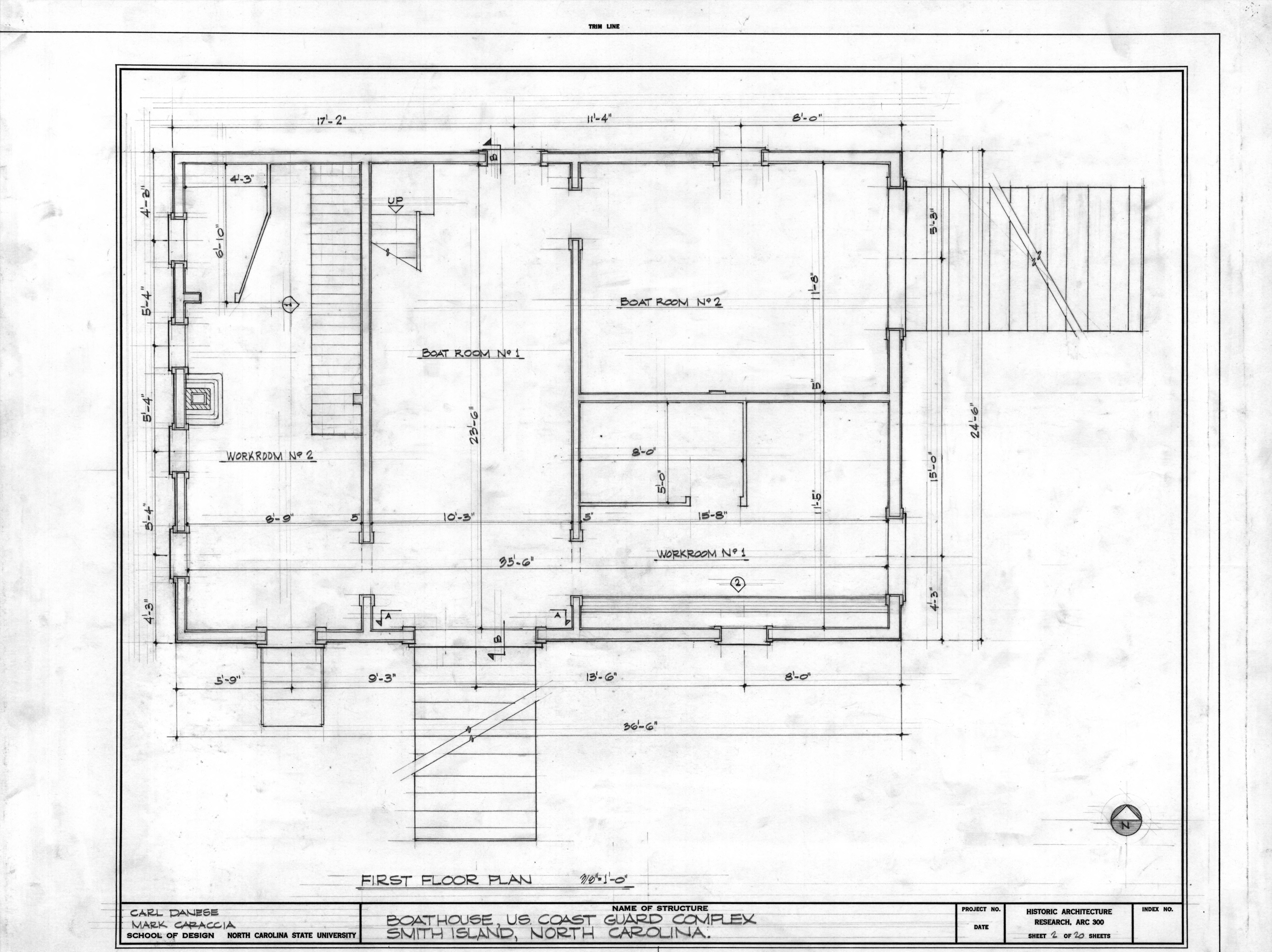 First Floor Plan Of Boathouse Cape Fear Lifesaving