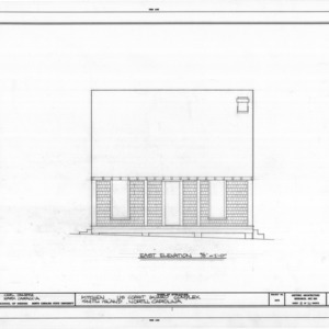 East elevation of kitchen, Cape Fear Lifesaving Station, Brunswick County, North Carolina
