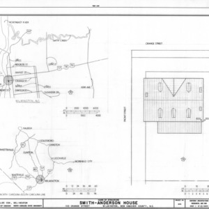 Location map and site plan, Smith-Anderson House, Wilmington, North Carolina