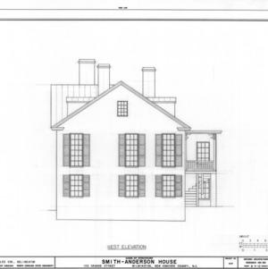 West elevation, Smith-Anderson House, Wilmington, North Carolina