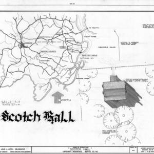 Location map and site plan, Scotch Hall, Bertie County, North Carolina