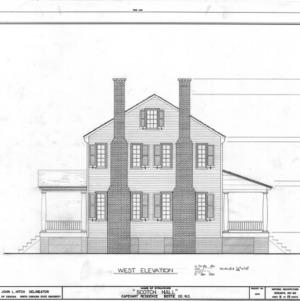 West elevation, Scotch Hall, Bertie County, North Carolina
