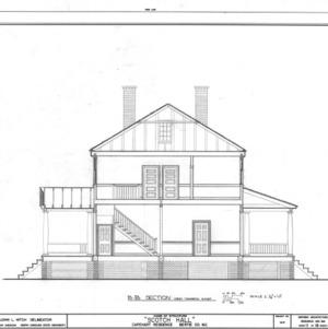 Cross section, Scotch Hall, Bertie County, North Carolina