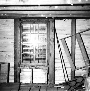 Attic view, Scotch Hall, Bertie County, North Carolina