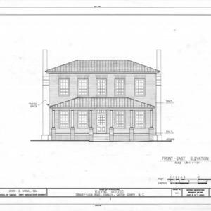 East elevation, Thomas Rhyne House, Gaston County, North Carolina