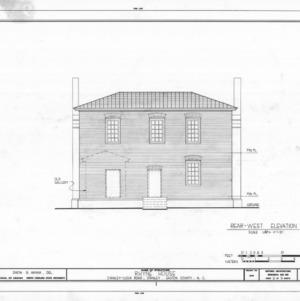 West elevation, Thomas Rhyne House, Gaston County, North Carolina