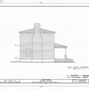 South elevation, Thomas Rhyne House, Gaston County, North Carolina