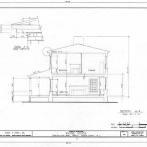 Cross section and detail, Thomas Rhyne House, Gaston County, North Carolina