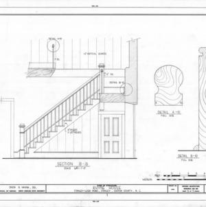 Stairway details, Thomas Rhyne House, Gaston County, North Carolina