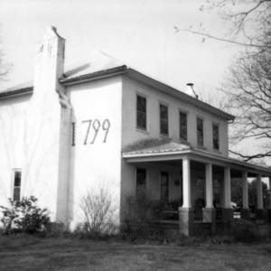 Side view with chimney, Thomas Rhyne House, Gaston County, North Carolina