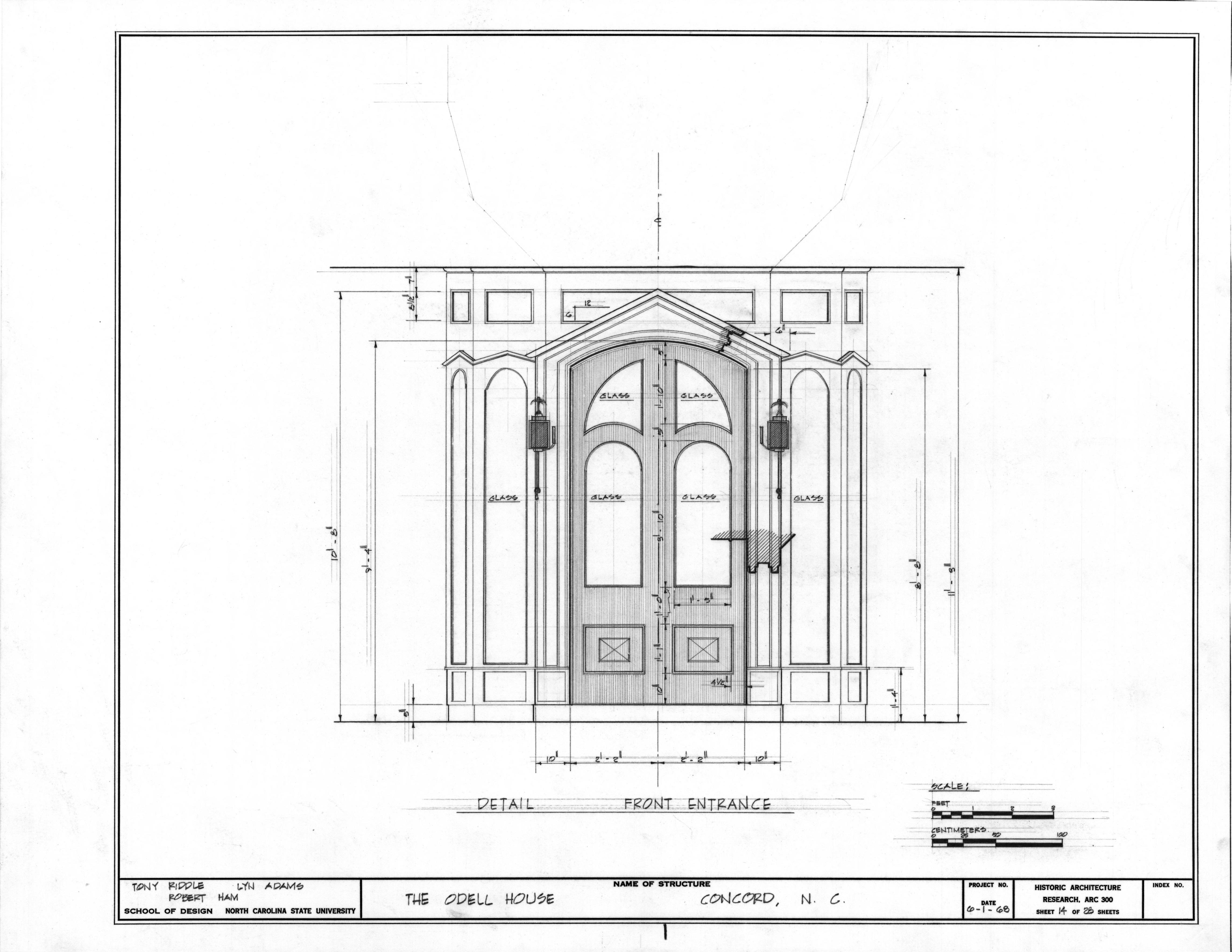 Doors Architectural Drawings Pan/zoom · Front Door Detail