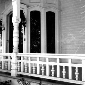 Porch detail, John Milton Odell House, Concord, Cabarrus County North Carolina