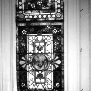 Stained glass detail, John Milton Odell House, Concord, Cabarrus County North Carolina