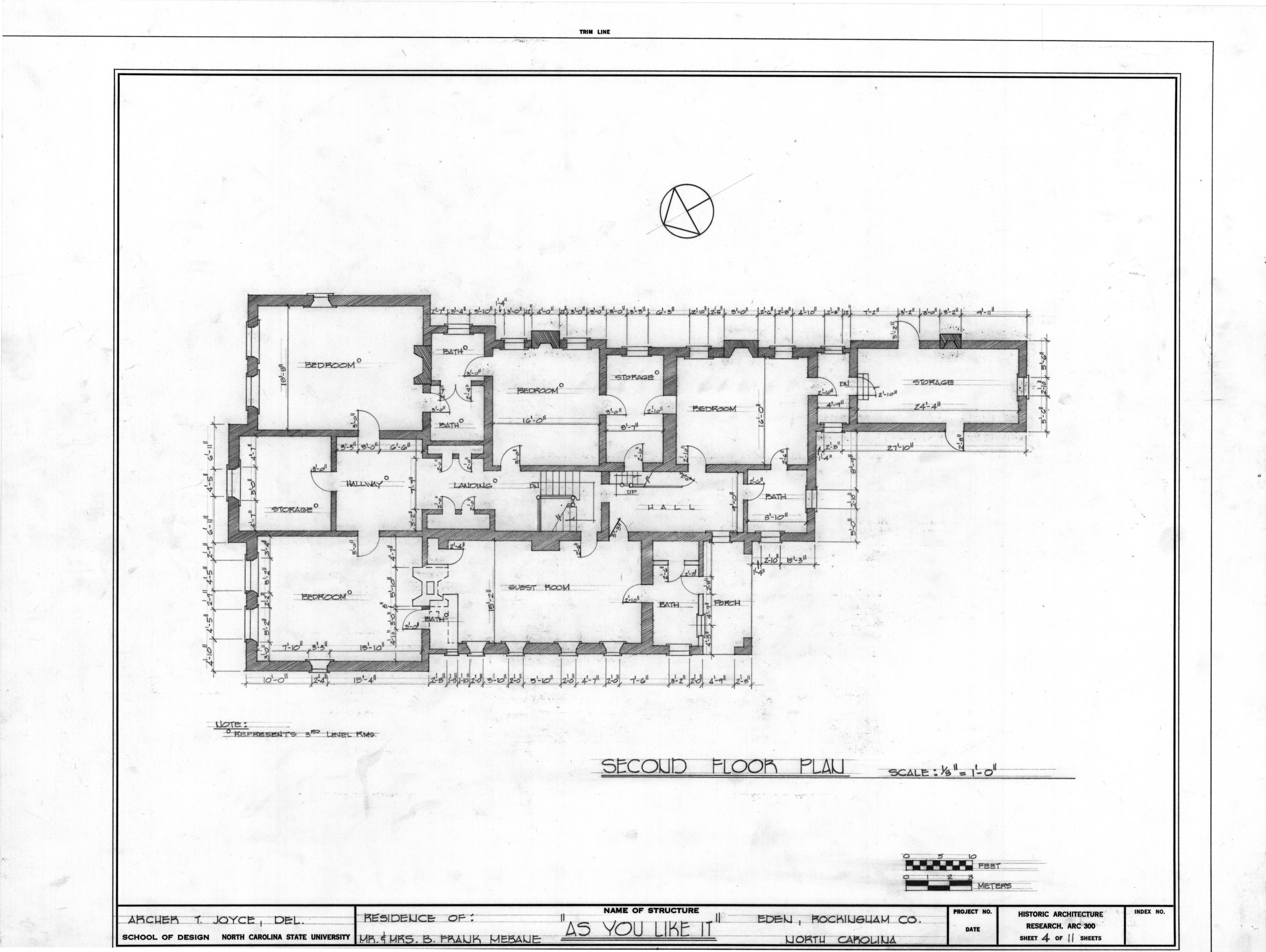 Second Floor Plan Morehead Mebane House Eden North