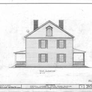 West elevation, Utzman-Chambers House, Salisbury, North Carolina