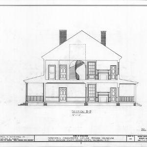 Cross section, Utzman-Chambers House, Salisbury, North Carolina
