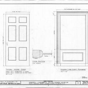 Door and window framing details, Utzman-Chambers House, Salisbury, North Carolina