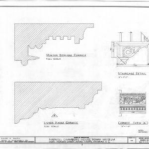 Cornice and stair details, Utzman-Chambers House, Salisbury, North Carolina