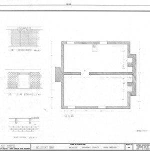 Basement plan and details, Belfont, Beaufort County, North Carolina