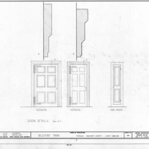 Door details, Belfont, Beaufort County, North Carolina