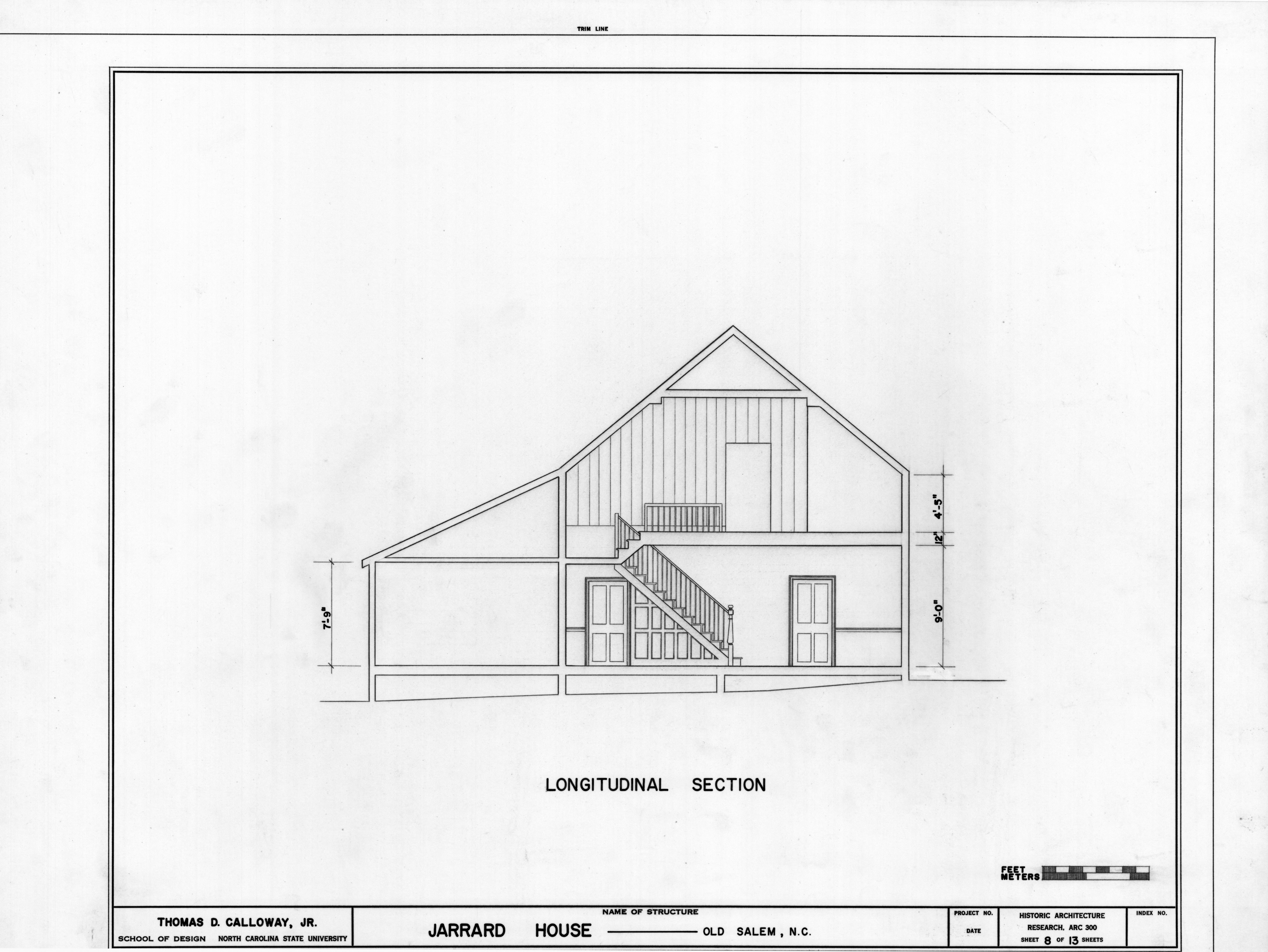 Cross Section Drawing of a House Cross Section Denke House