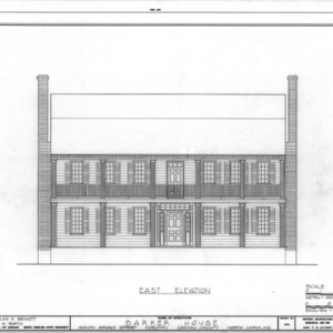 East elevation, Barker-Moore House, Edenton, North Carolina