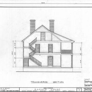 Cross section, Barker-Moore House, Edenton, North Carolina