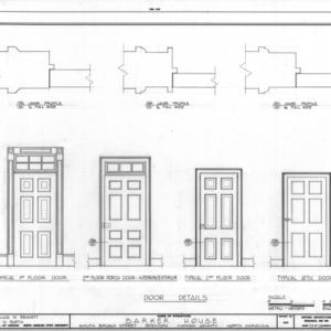 Door details, Barker-Moore House, Edenton, North Carolina