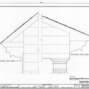 Eave details, Barker-Moore House, Edenton, North Carolina