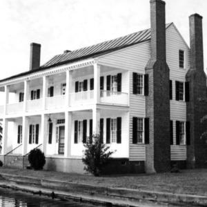 View, Barker-Moore House, Edenton, Chowan County, North Carolina