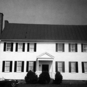 Rear view, Barker-Moore House, Edenton, Chowan County, North Carolina