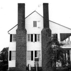 Side view, Barker-Moore House, Edenton, Chowan County, North Carolina