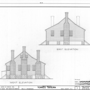 East and west elevations, Tories Tavern, Nash County, North Carolina