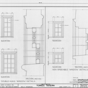 Window details, Tories Tavern, Nash County, North Carolina