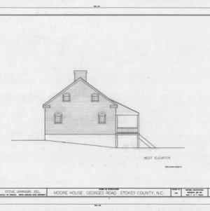 West elevation, Matthew Moore House, Stokes County, North Carolina