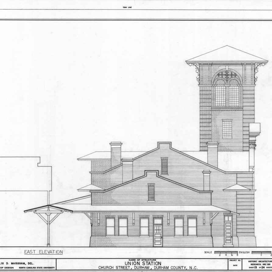 East Elevation Plan : West front east first floor plan second