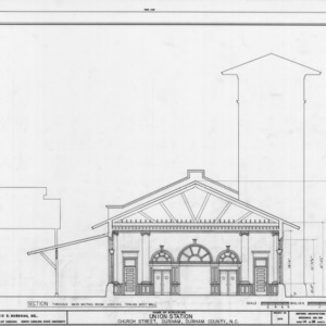 Cross section, Union Station, Durham, North Carolina