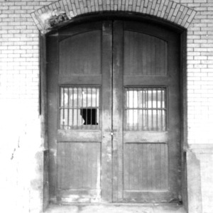 Doorway, Union Station, Durham, Durham County, North Carolina
