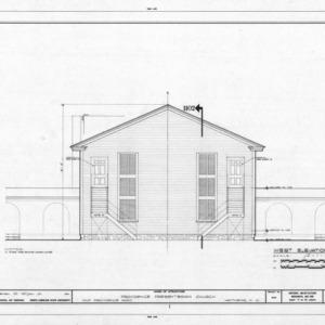 West elevation, Providence Presbyterian Church, Matthews, North Carolina