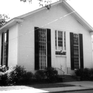 Front view, Providence Presbyterian Church, Matthews, Mecklenburg County, North Carolina