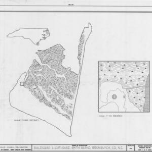 Location map and site plan, Bald Head Lighthouse, Brunswick County, North Carolina