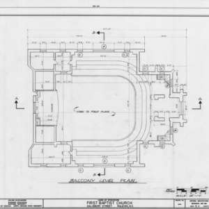 Balcony plan, First Baptist Church, Raleigh, North Carolina