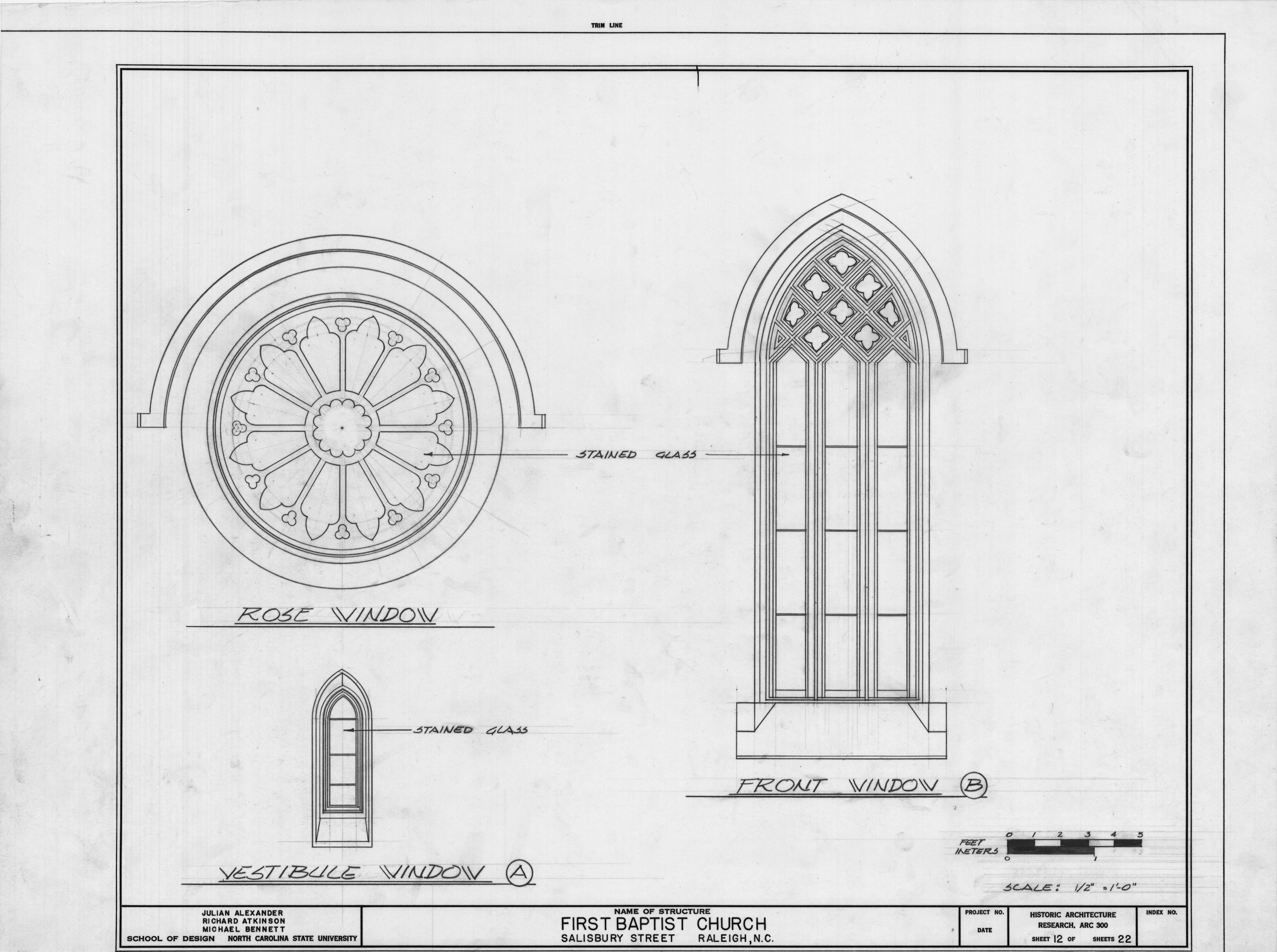 Church Window Drawings Pan/zoom · Window Details