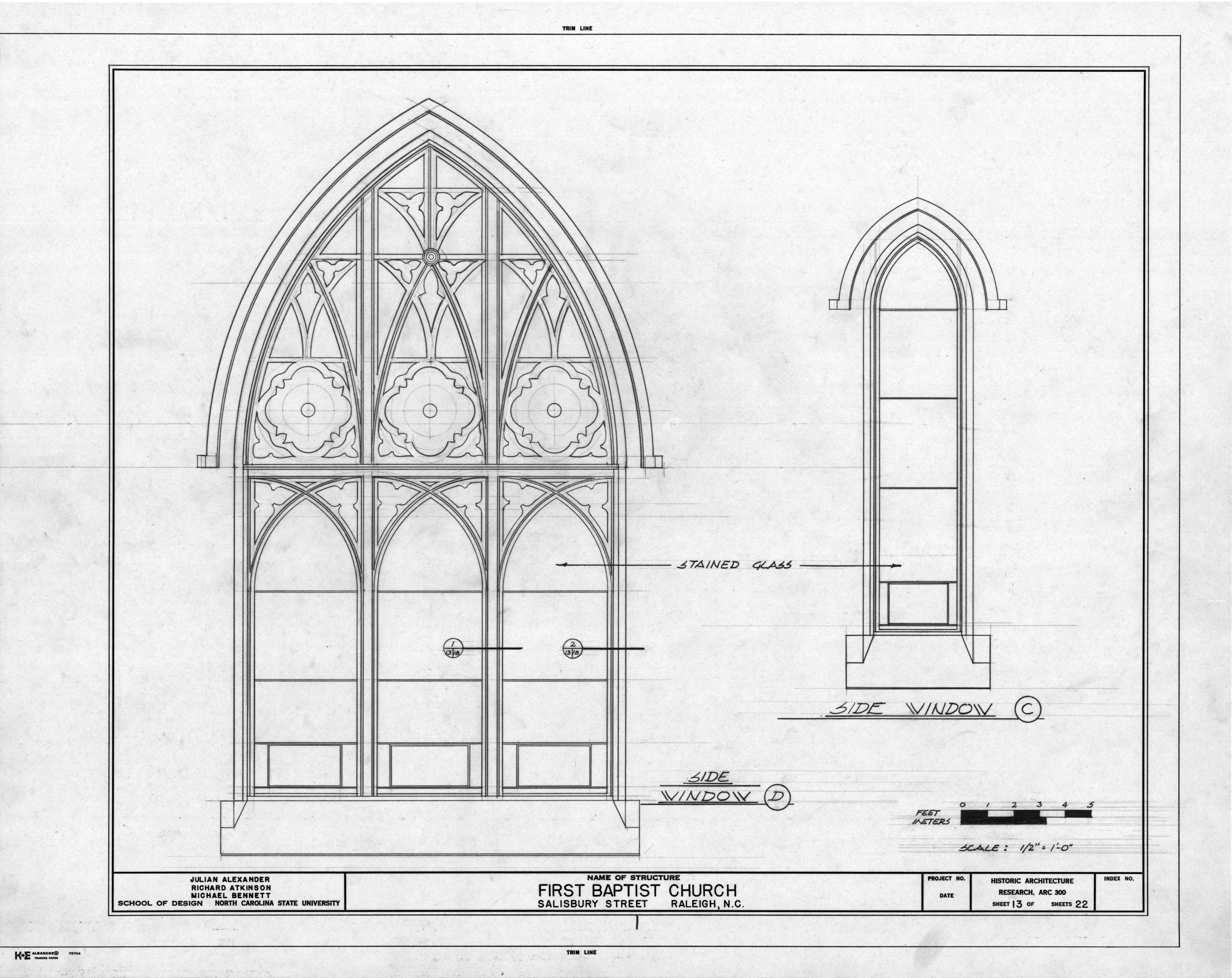Church Architectural Drawings Architecture Church Window