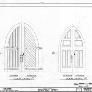 Door details, First Baptist Church, Raleigh, North Carolina