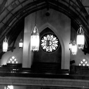 Interior view, First Baptist Church, Raleigh, Wake County, North Carolina