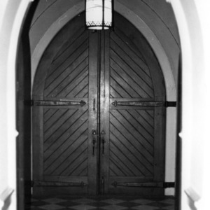 Doorway, First Baptist Church, Raleigh, Wake County, North Carolina