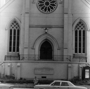 Front view, First Baptist Church, Raleigh, Wake County, North Carolina